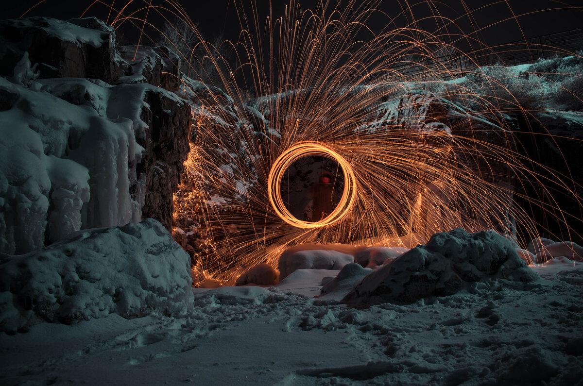 Зимний пейзаж со спецэффектами - Алишер Бабиков