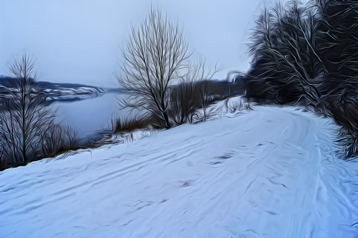 Река Волхов и старый новгородский тракт. - Лариса С.