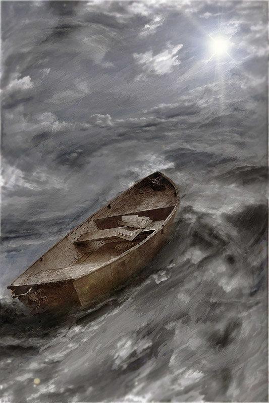 тонущая лодка фото