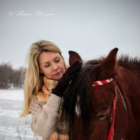 прогулка с лошадью :: Антон Шабунин