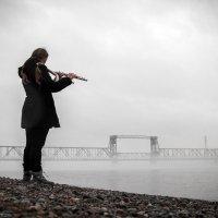 Флейтистка на реке :: Александр Хвостов