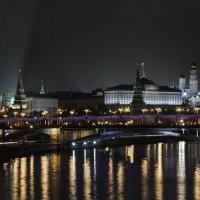 моя столица.ночная москва(вид на кремль со стороны каменного моста) :: юрий макаров