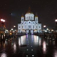 моя столица ночная москва(дорога к храму.) :: юрий макаров