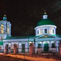 моя столица ночная москва(церковь на Воробьевых горах) :: юрий макаров