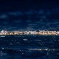 Зимнее утро (Санкт-Петербург, Дворцовая набережная) :: Владимир Горубин