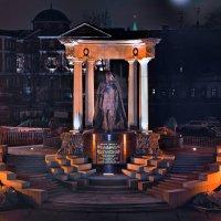 моя столица ночная москва(памятник александру второму) :: юрий макаров