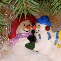 Соль и Перчик подружились и от всех уединились!..Со Старым -Новым годом, друзья! :: Надежда