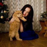 С любимцем :: Elena Zhivoderova