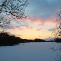 Зимний закат в р. Мох :: Ольга Семенова