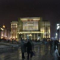 моя Столица ночная Москва(бывшая гостиница Москва,Манежная площадь) :: юрий макаров
