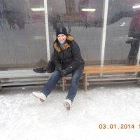 долгожданная скамейка. Каток.2014г. :: Мила