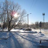 Зимнее солнце на ул. Дерендяева, 2014-01-24 :: Сергей Ткаченко
