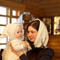 Крестильное... Довольная мамочка:) :: Дарья Казбанова