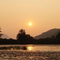 Вечер на реке Чарыш :: Кристина Воробьева