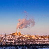 мороз -37, ТЭЦ в полную мощность :: Владимир Мужчинин