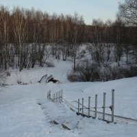 Через мостик и овраг, спускаюсь я смотреть закат ! :: Константин Фролов