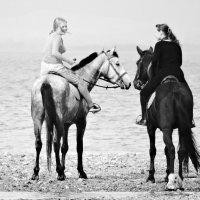 Море, люди, лошади. Вариант 2 :: Лилия Гиндулина