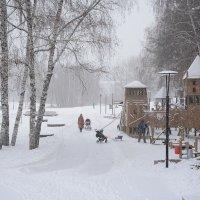 Снегопад :: Елена Ахромеева