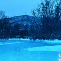 пейзаж речушки зимней :: Серафим Танбаев