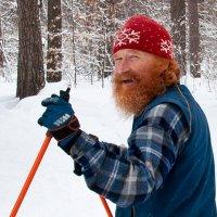 Лыжник-оптимист :: Диана Задворкина