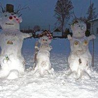 снежная семья :: Сергей Кочнев