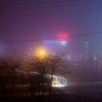 туман в городе... :: Евгения Климина