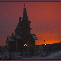 Светает в Ленске (Саха-Якутия) :: Nikita Volkov