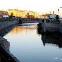 Закат  над  Обводным  каналом :: Игорь Пляскин