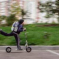 В школу своим транспортом (съемка с проводкой) :: Aнатолий Дождев