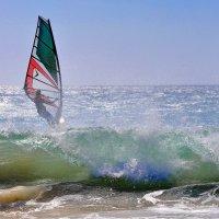 Поймал ветер. Испания, Атлантика, Гибралтарский пролив. :: Виталий Половинко