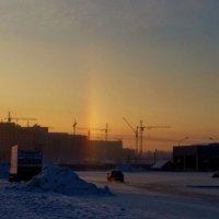 Радуга в морозное утро :: Татьяна Копосова
