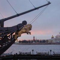 Вид с Петроградской стороны на стрелку Васильевского острова :: Владимир Горубин