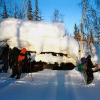 Проходим избушку в тундре возле гор :: Сергей Карцев