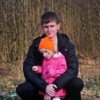 папуля и дочурка :: Дарина Нагорна
