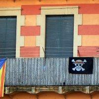 Каталония. Флаг. Город Жерона :: Марина Домосилецкая