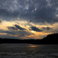 Ледяной закат... :: Андрей Войцехов