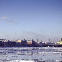ледоход у Благовещенского моста :: ник. петрович земцов