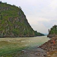 Место  впадения  Чемала  в  Катунь. :: Vlad Borschev
