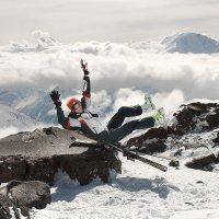 Горняжка застала врасплох :) Эльбрус, около 4500 м. :: Anna Lipatova