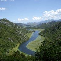 Риека Цернаевича (река) впадает в Скадарское озеро :: Людмила