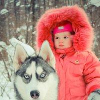 Милая девочка с хаски :: Александра Карпушкина