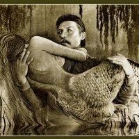 автопортрет с русалкой    ручная работа :: мирон щудло
