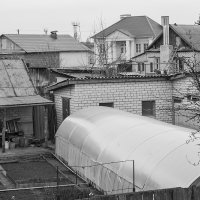 Взгляд с крыши, в ч/б :: Пётр Сухов