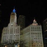 Чикаго ночью (Wrigley Building) :: Юрий Поляков