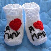 опять для хвастовства))) ляльки пинетки... для любимого малыша)) :: Аленушка Бурлакова