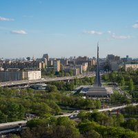 Москва. ВВЦ (ВДНХ) Вид с колеса обозрения в сторону центра, на Проспект Мира. :: —- —-
