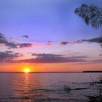 закат на Горьковском море :: Лидия Юсупова