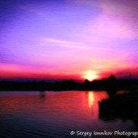 Andrushivka. Red Hill. Staskova dam. Sunset. Oil painting. May 2014 :: Сергей Ионников