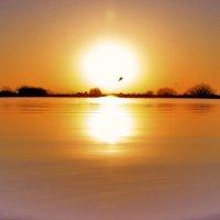 солнце над озером :: Вадим Виловатый