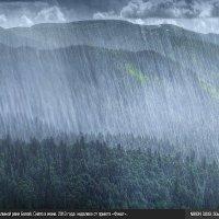 Дождь в долине реки Белой. :: Вадим ZUBR Малышев